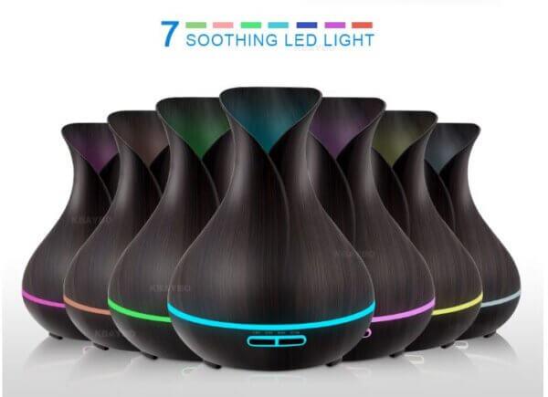LED valgusega eeterliku õli difuuser