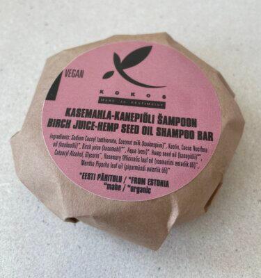 tahke juuksešampoon kasemahlaga ja kanepiõliga eestimaine toode