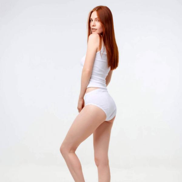 BNB lekkekindlad aluspüksid valge
